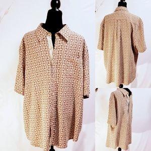 NWOT Nat Nast American Fit 100% silk Shirt XL🦅🆕